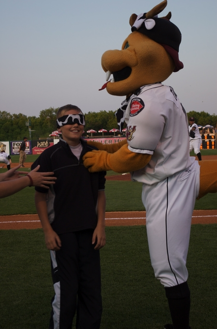 Timber Rattlers -- blindfolded cow tipper.JPG