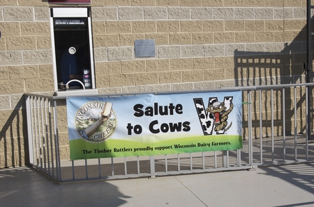 timber rattlers -- salute to cows banner.JPG