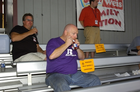 Williamsport -- Belly Buster, purple shirt different guy eats from different jar.JPG