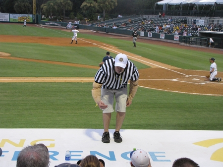 Charleston -- Hochuli Makes Clipping Call.JPG
