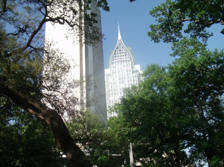 Mobile -- Skyscraper through trees.JPG