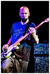 Clint displaying his bass-ic instinct