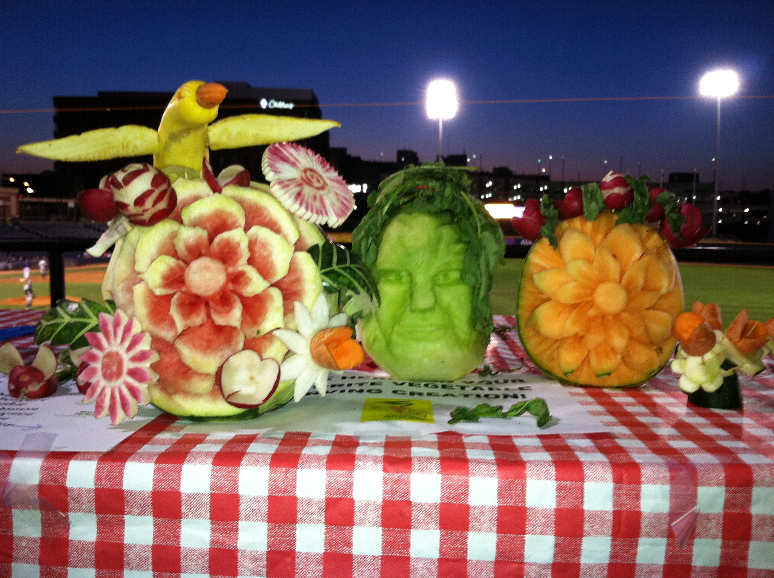 Vegetable carving for competition - Veggie Carving Runner Up