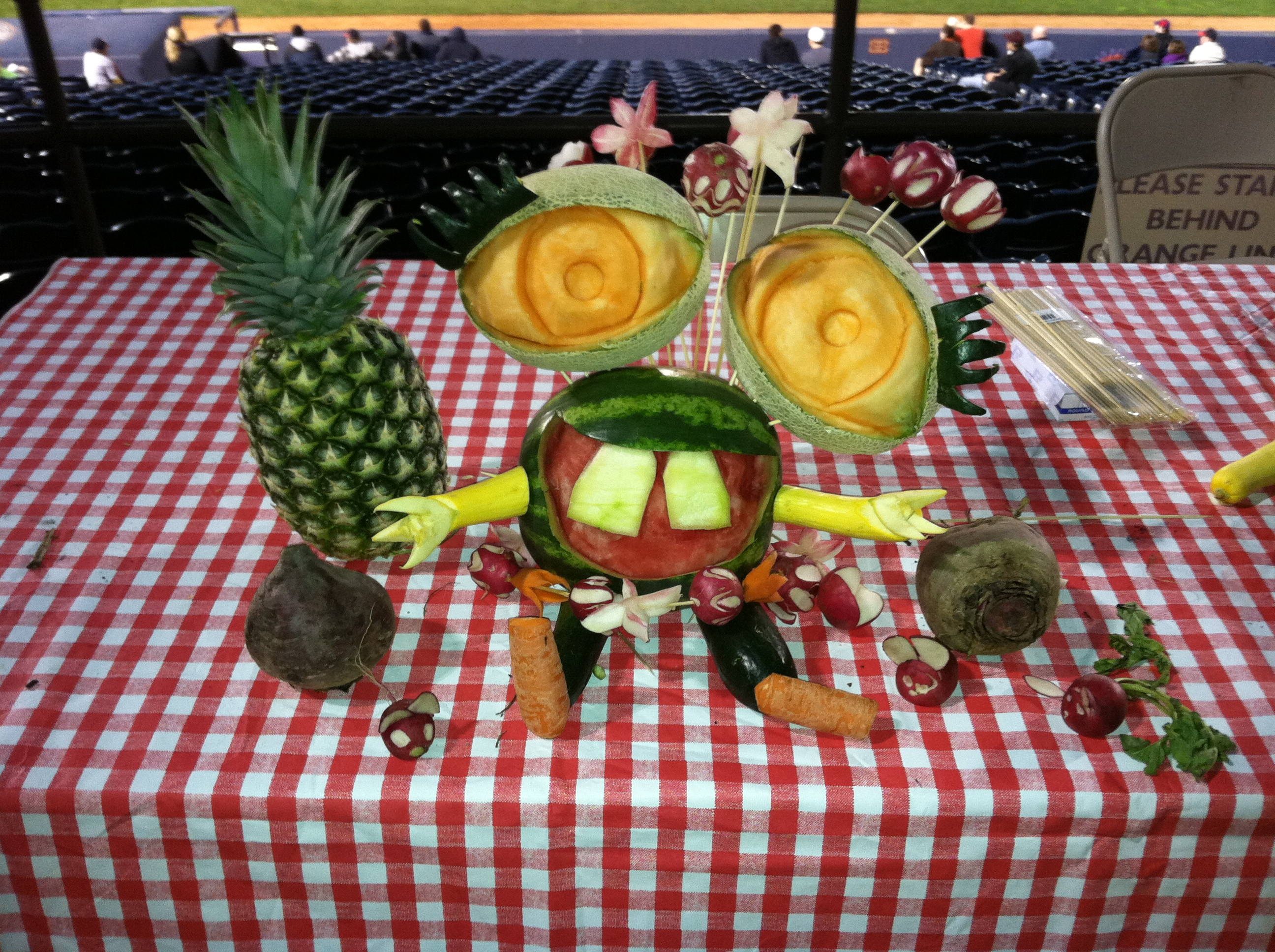 Vegetable carving for competition - Veggie Carving Winner