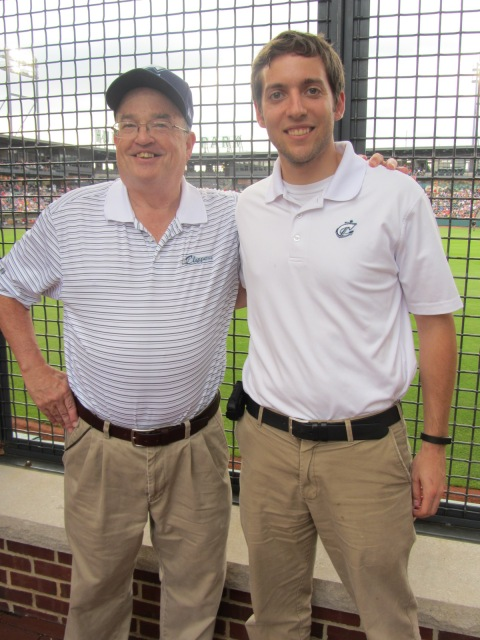 Joe Santry, left, and Clippers director of social media Josh Samuels.